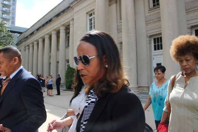 Patrick Cannon Supporters Leaves Courthouse