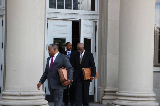 Patrick Cannon Leaves Courthouse
