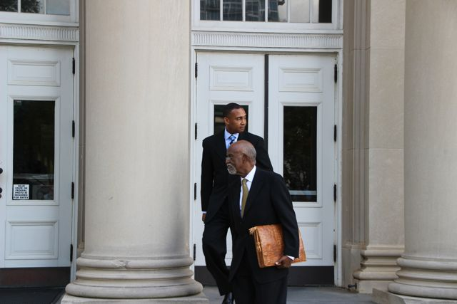 Patrick Cannon, James Ferguson and Henderson Hill Leave Federal Courthouse