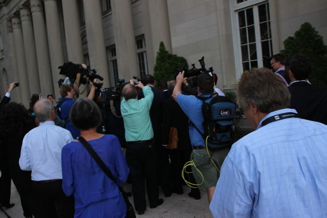 Patrick Cannon Mobbed By Reporters