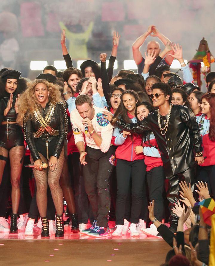 Coldplay, Beyonce and Bruno Mars