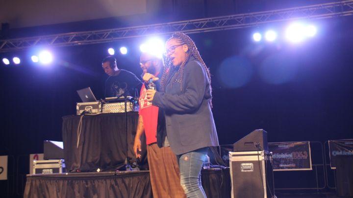 Monie Love at Eddie Owens at Legends of Hip-Hop Concert