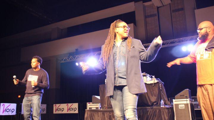 Monie Love EPMD at Eddie Owens at Legends of Hip-Hop Concert
