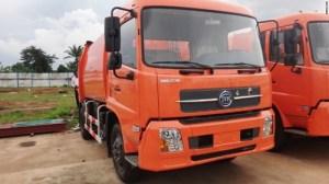 African built Innoson trash truck