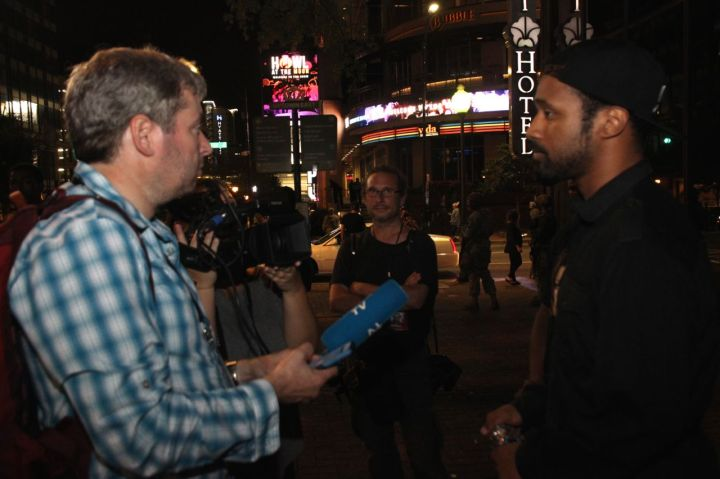 Chewy Talks With A Reporter Uptown