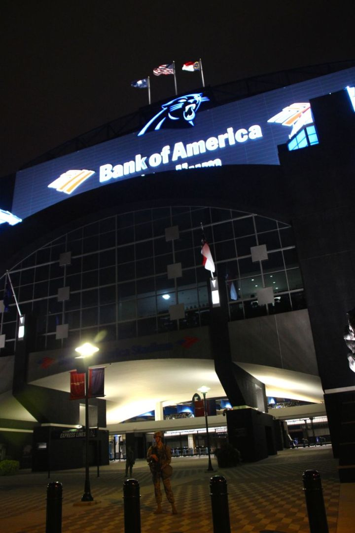 Protestors March To Bank of America Stadium