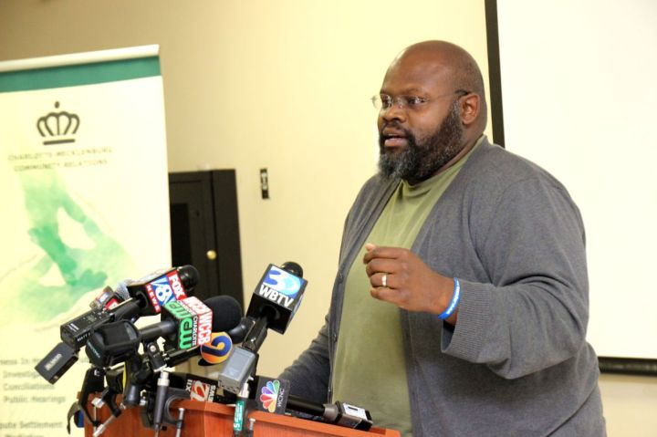 Raymond Kenndy at Community Relations Press Conference