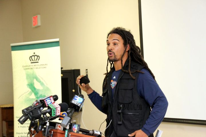 Braxton Winston at Community Relations Press Conference
