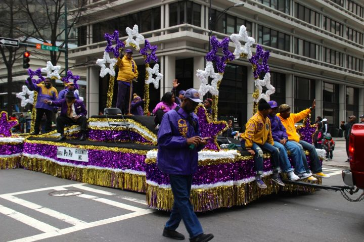 Omega Psi Phi in the Martin Luther King, Jr. Parade 2017