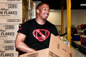 Nick Cannon Visits The Los Angeles Regional Food Bank