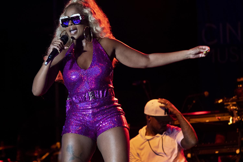 Mary J Blige at the 2019 Cincinnati Music Festival