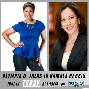 Olympia D and Senator Kamala Harris