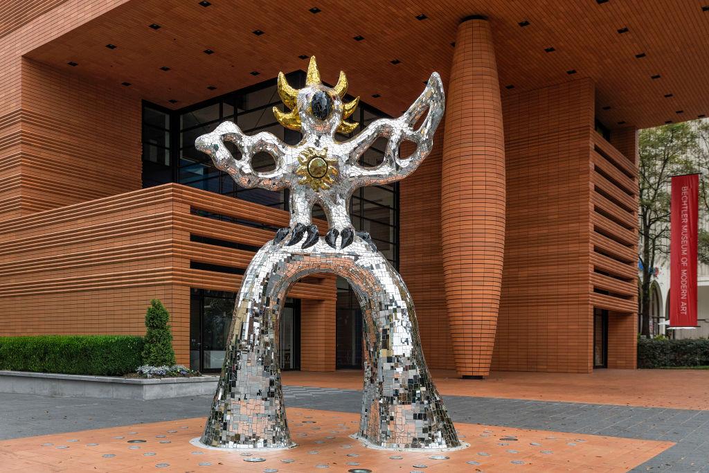 Firebird sculpture at the Bechtler Museum of Modern Art...